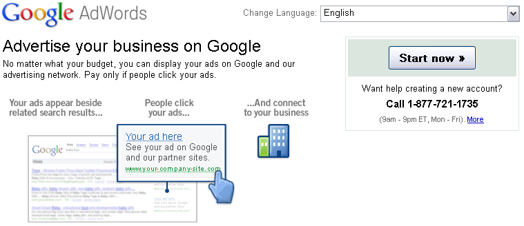 Google AdWords Number