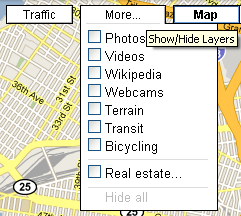 Show Google Map Layers