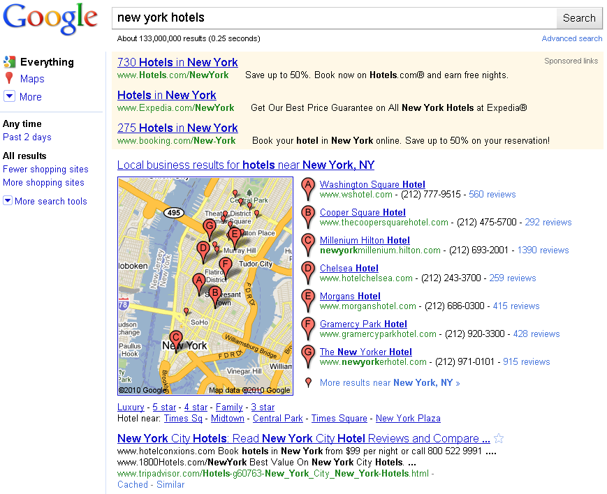 new york hotels local seo