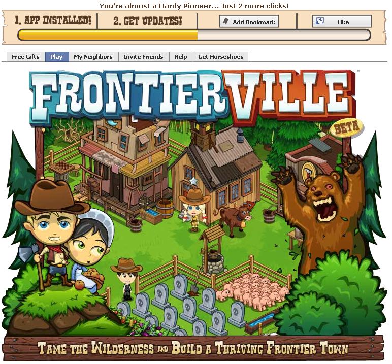 FrontierVille Screen