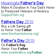 Google Father's Day Ads