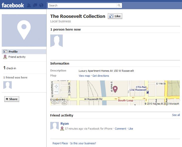 Facebook Checkin Places