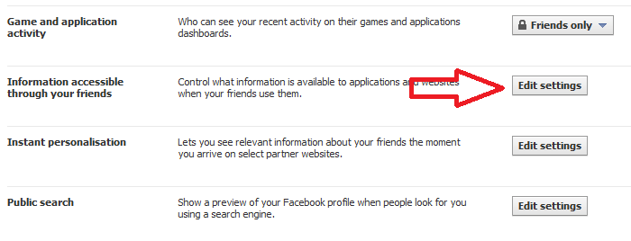 Facebook Privacy Settings Options