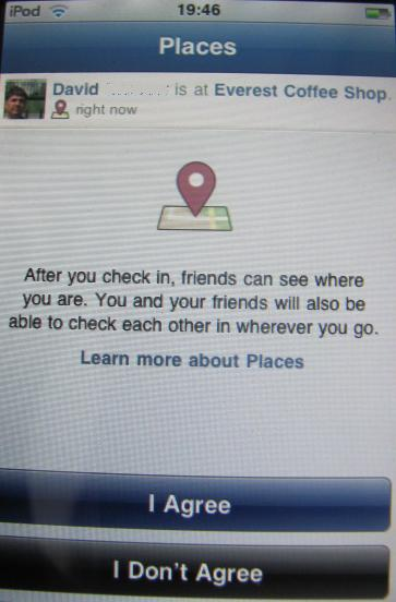 Share Location with Facebook