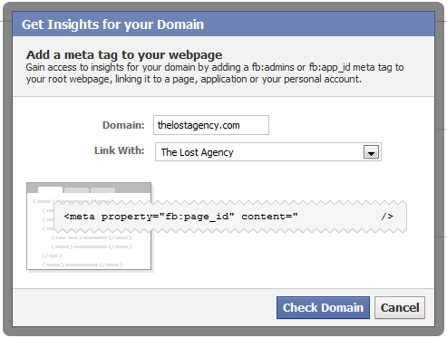 Facebook insights for your domain