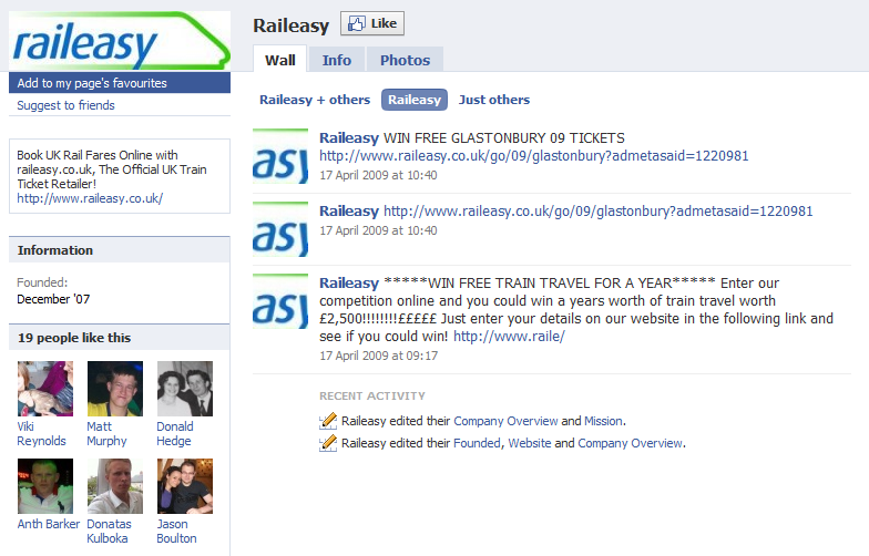 Rail Easy Facebook