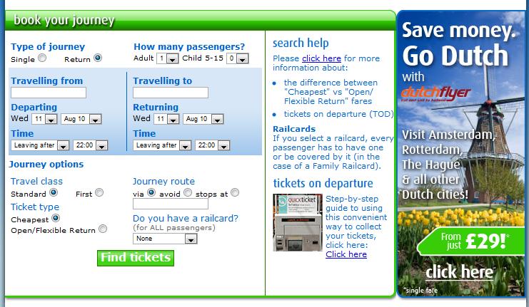 Rail Easy Homepage