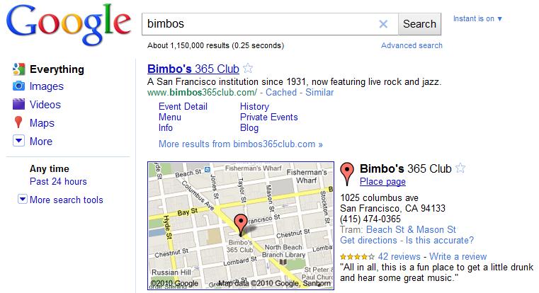 Bimbos search results