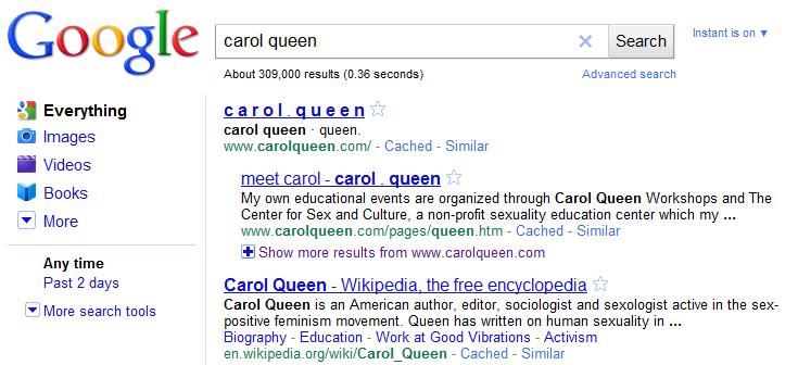 carol queen search results