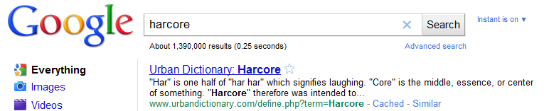 Harcore Search Results
