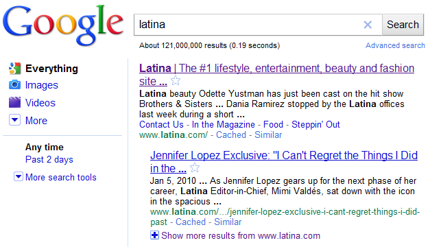 Latina Search Results