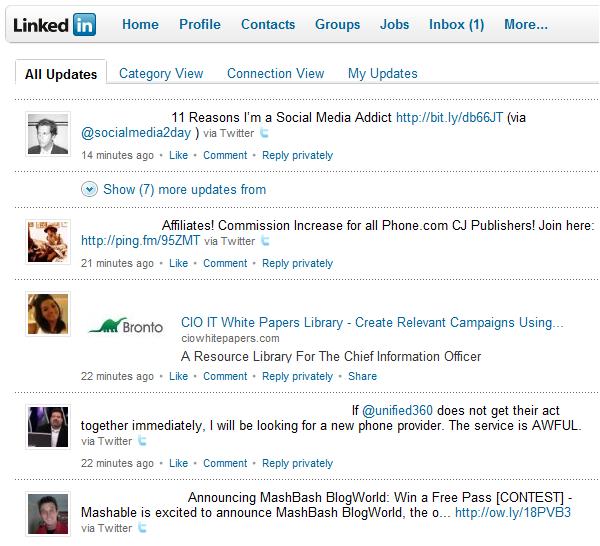 Linkedin Stream