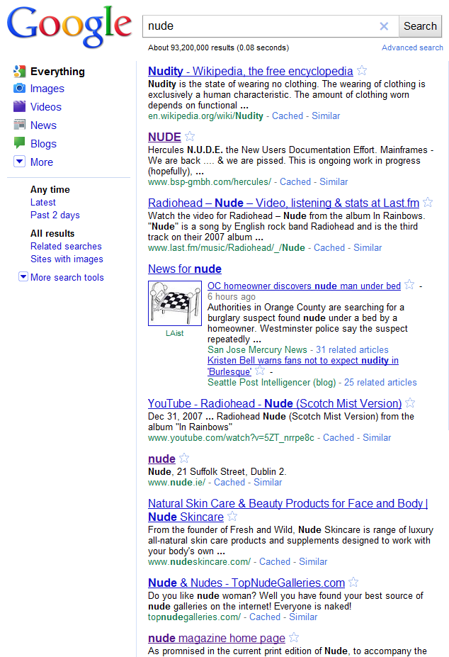 Nude Search Results