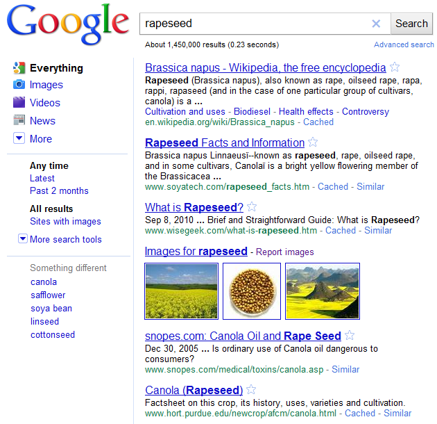 Rapeseed Search Results