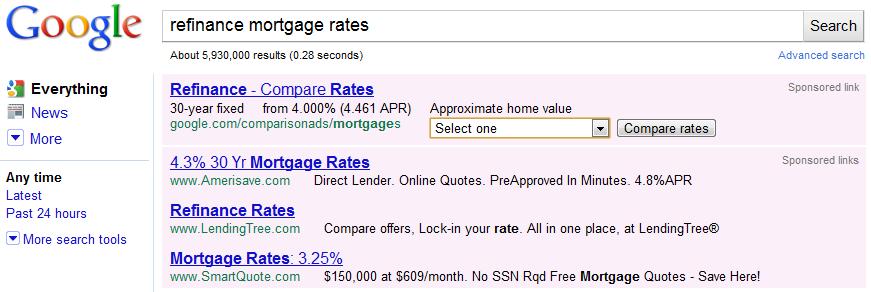 Google Refinance Ads