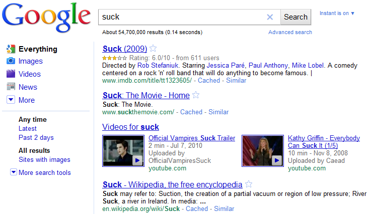 Suck Search Results