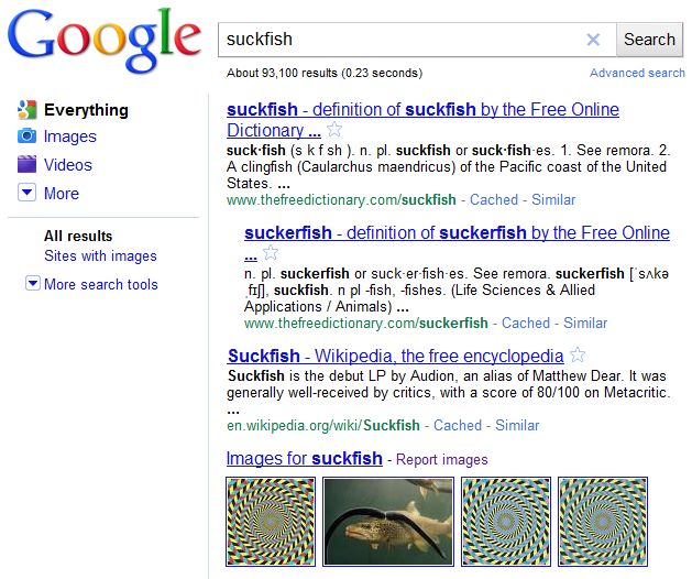 Suckfish Search Results