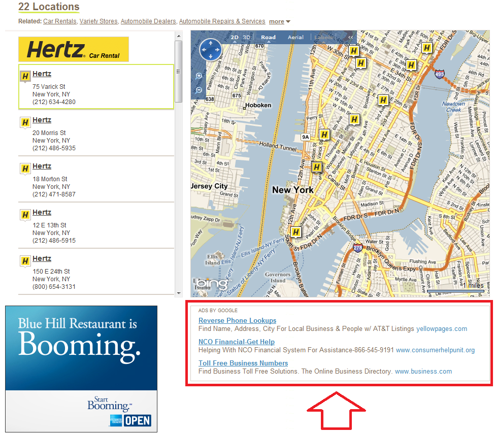 Whitepages Google Ads