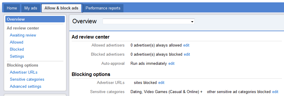 Allow Adsense