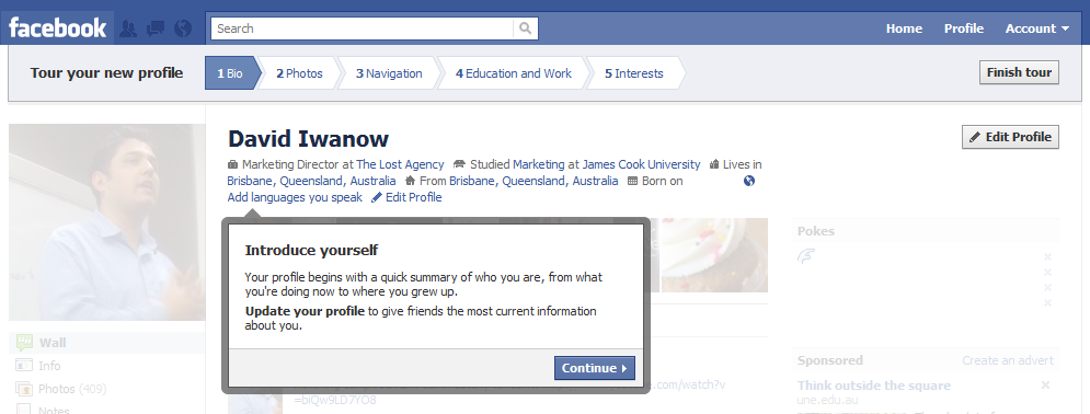 New Facebook Profile Tour