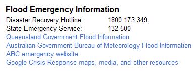 Flood Emergency Information