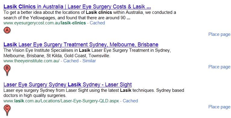 Lasik Results Showing Deeper URLS