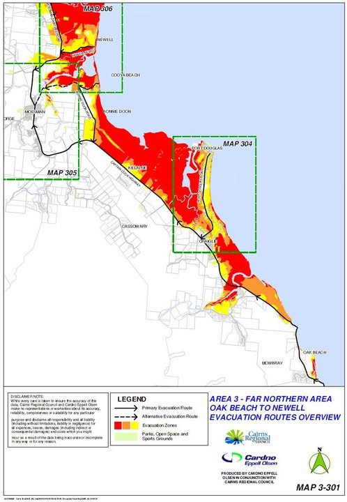 Evacuation Area 3 - Oak Beach to Newell