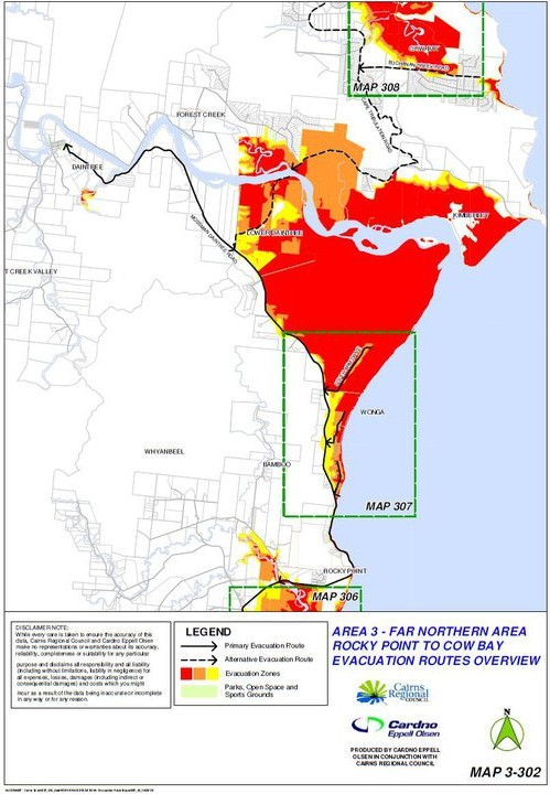 Evacuation Area 3 - Rocky Point to Cow Bay