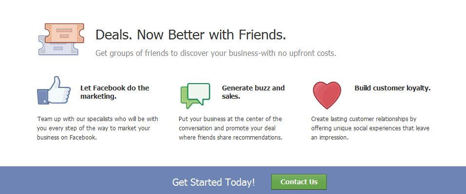 Facebook business deals