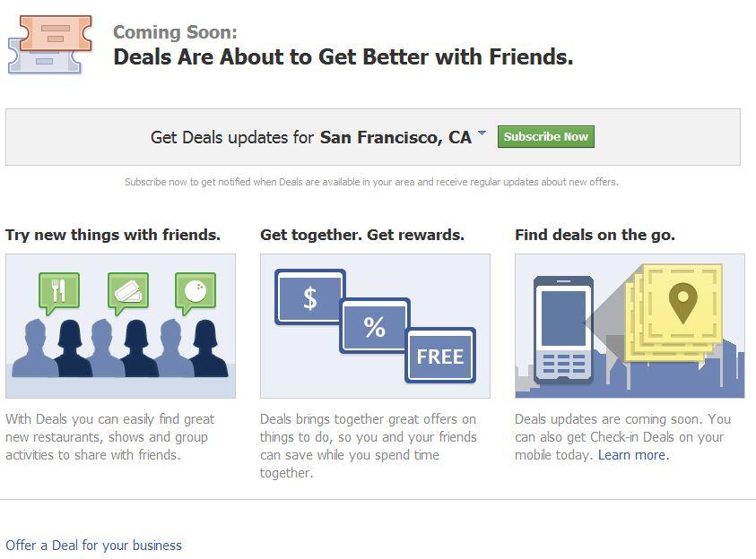 Find Deals on Facebook
