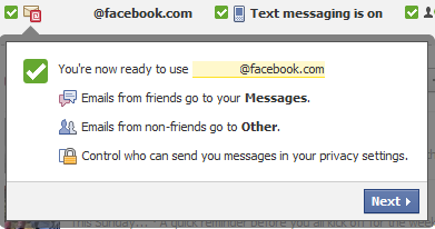 Facebook email ready to use