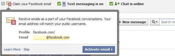 Claim Facebook Email