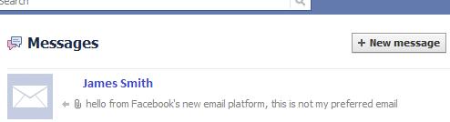 Facebook email sent
