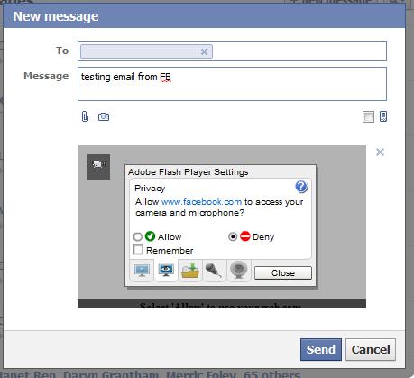 Facebook Message Attachment
