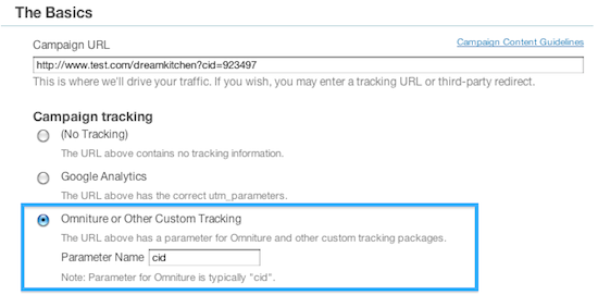 Omniture & Custom Tracking for Your Campaigns