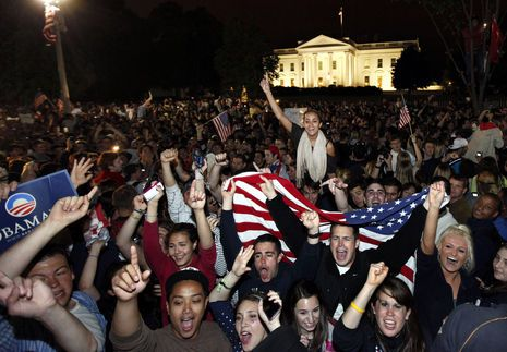 Crowds Celebrate Outside the White House