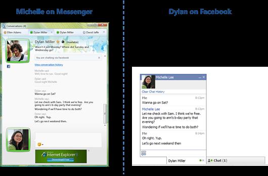 Facebook chat in Messenger