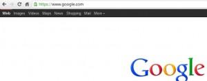 Google Black Toolbar