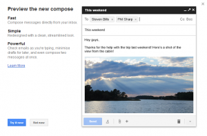 Gmail's new compose and reply experience