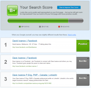 Your Search Score