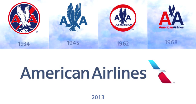 evolution of the american airlines logo