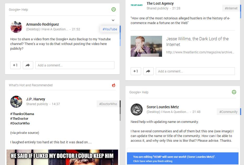 Google+ Help Community