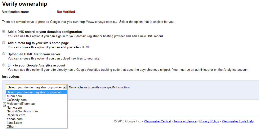 How to Verify Google Webmaster Tools ownership
