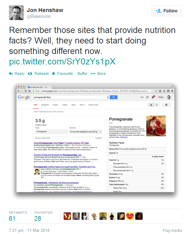 Remember those sites that provide nutrition facts? Well, they need to start doing something different now.