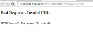 Bad Request - Invalid URL