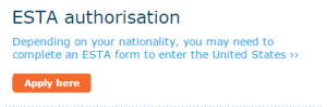 KLM ESTA authorisation