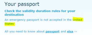 KLM Passport Information