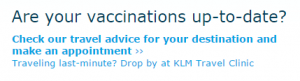 Are your vaccinations up-to-date?