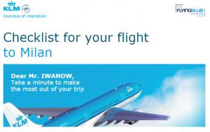 KLM Checklist Email