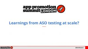 Learning from ASO testing at scale